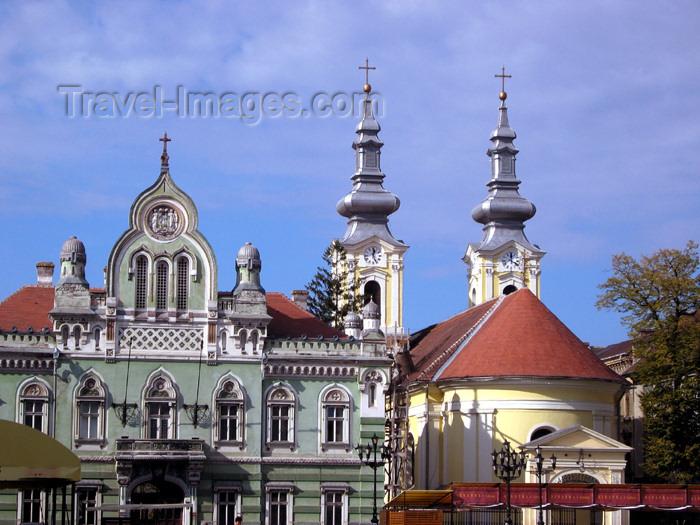 romania47: Romania - Timisoara / Dibiscos / Bisiskos / Tibiskos / Tibiskon / Timbisko / Temesvá / Temeswar / Temeschburg / Temisvar: Unirii square - Orthodox Church - Banat region - photo by *ve - (c) Travel-Images.com - Stock Photography agency - Image Bank