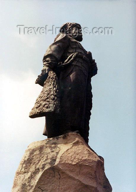russia346: Russia - Khabarovsk (Russian Far East): statue - Khabarovsk, the person - Russian explorer Yerofey Khabarov (photo by G.Frysinger) - (c) Travel-Images.com - Stock Photography agency - Image Bank