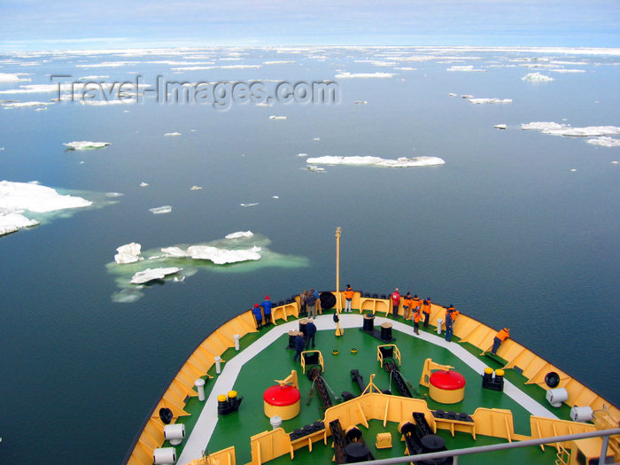 russia424: Russia - Bering Strait (Chukotka AOk): icebreaker - Kapitan Khlebnikov - view from the 10-storey high bridge - the prow - navio quebra gelos (photo by R.Eime) - (c) Travel-Images.com - Stock Photography agency - Image Bank