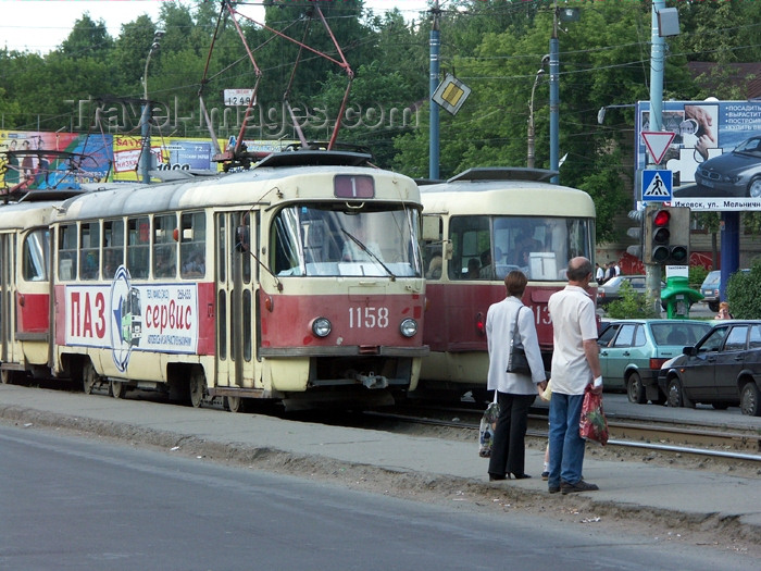 russia448: Russia - Udmurtia - Izhevsk: trams and pedestrians - photo by P.Artus - (c) Travel-Images.com - Stock Photography agency - Image Bank