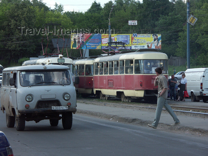 russia449: Russia - Udmurtia - Izhevsk: traffic - trams and van - photo by P.Artus - (c) Travel-Images.com - Stock Photography agency - Image Bank