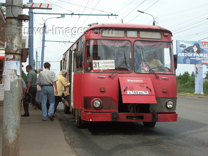 russia455: Russia - Udmurtia - Izhevsk:  Izhevsk bus, produced locally by Izhmash - photo by P.Artus - (c) Travel-Images.com - Stock Photography agency - Image Bank