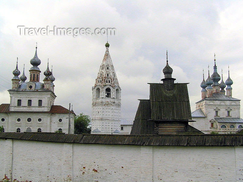 russia495: Russia - Yuriev-Polsky - Vladimir oblast: walled Monastery of Archangel Michael - outside the walls - photo by J.Kaman - (c) Travel-Images.com - Stock Photography agency - Image Bank