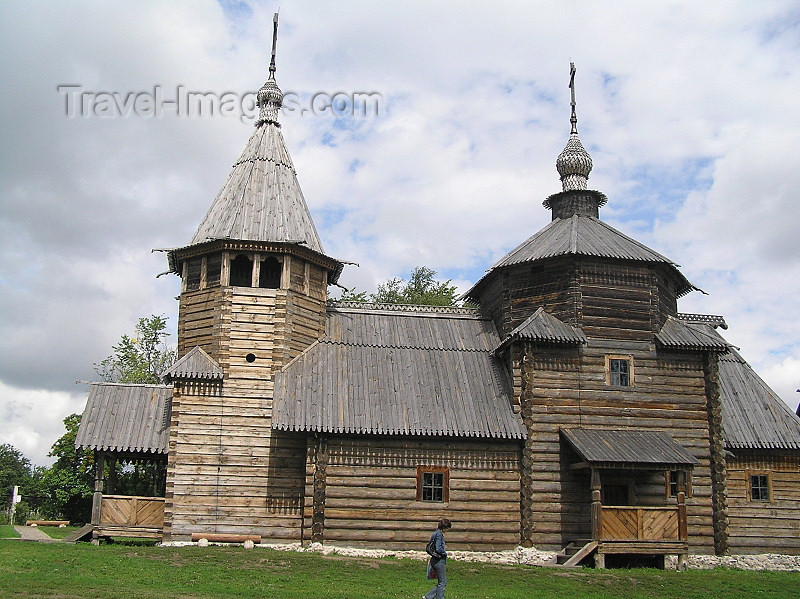 russia497: Russia - Suzdal - Vladimir oblast: wooden church - Museum of wooden architecture & peasant life - photo by J.Kaman - (c) Travel-Images.com - Stock Photography agency - Image Bank