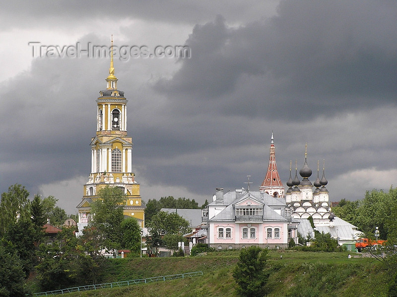 russia501: Russia -  Suzdal: belfry and church - photo by J.Kaman - (c) Travel-Images.com - Stock Photography agency - Image Bank