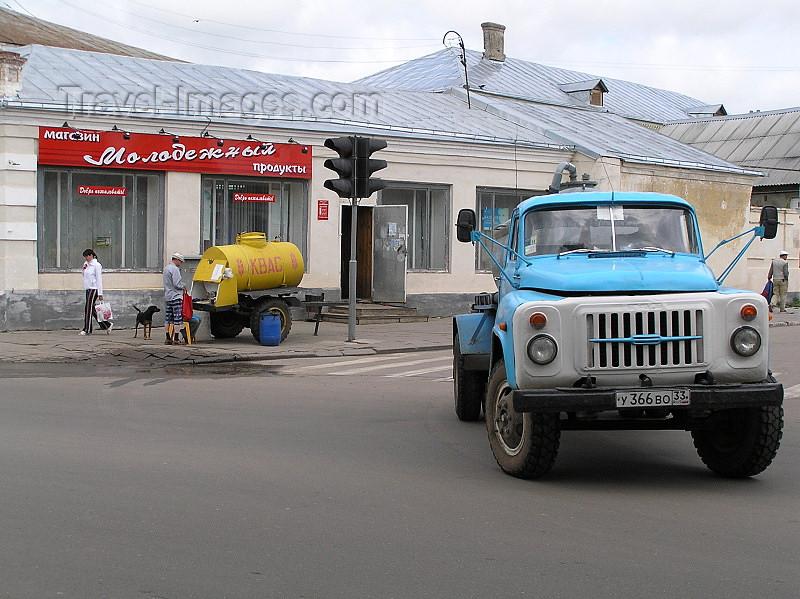 russia503: Russia - Suzdal: street scene - Zil-130 truck and kvas tank - Zavod Imeni Likhacheva - photo by J.Kaman - (c) Travel-Images.com - Stock Photography agency - Image Bank