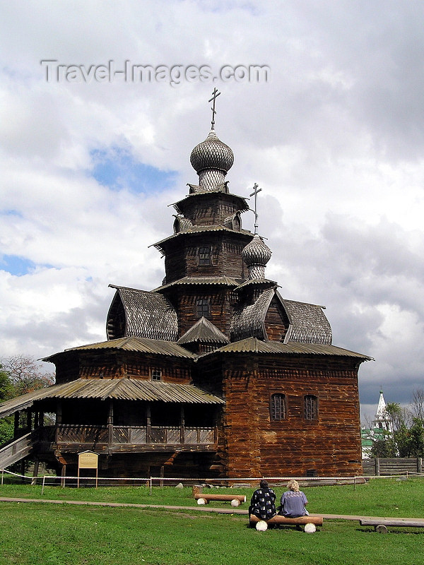 russia514: Russia - Suzdal - Vladimir oblast: stave church - Museum of wooden architecture & peasant life - photo by J.Kaman - (c) Travel-Images.com - Stock Photography agency - Image Bank