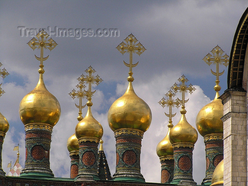russia660: Russia - Moscow: Domes of the Upper Saviour Cathedral - photo by J.Kaman - (c) Travel-Images.com - Stock Photography agency - Image Bank