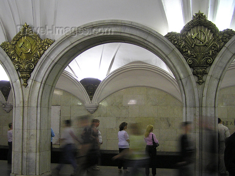 russia664: Russia - Moscow: in the Underground / Metro / Subway - photo by J.Kaman - (c) Travel-Images.com - Stock Photography agency - Image Bank