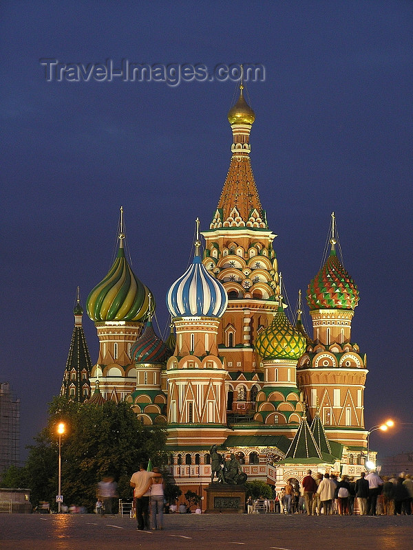 russia690: Russia - Moscow: St Basil's Cathedral at night - photo by J.Kaman - (c) Travel-Images.com - Stock Photography agency - Image Bank