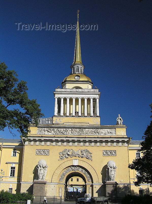 russia720: Russia - St Petersburg: Admiralty - needle - photo by J.Kaman - (c) Travel-Images.com - Stock Photography agency - Image Bank