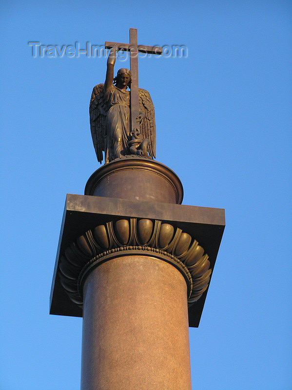 russia729: Russia - St Petersburg: Alexander Column - photo by J.Kaman - (c) Travel-Images.com - Stock Photography agency - Image Bank