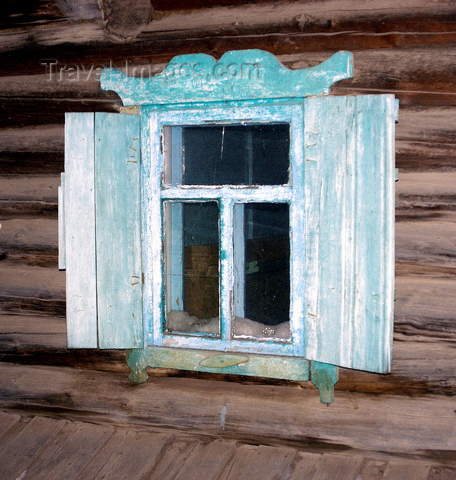 russia759: Lake Baikal, Irkutsk oblast, Siberian Federal District, Russia: Khuzir Village, Olkhon island - window of a timber house - photo by B.Cain - (c) Travel-Images.com - Stock Photography agency - Image Bank