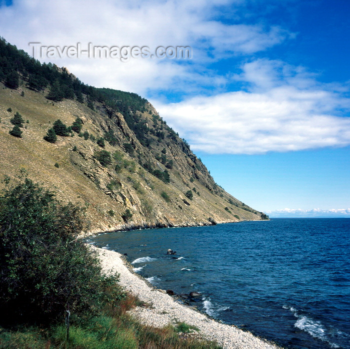 russia767: Lake Baikal, Irkutsk oblast, Siberia, Russia: Eastern Shore of Olchon Island in Lake Baikal - pebble beach - photo by A.Harries - (c) Travel-Images.com - Stock Photography agency - Image Bank
