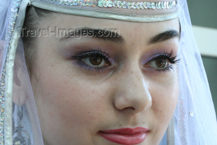 russia776: Chechnya, Russia - a portrait of Chechen bride - close-up - photo by A.Bley - (c) Travel-Images.com - Stock Photography agency - Image Bank