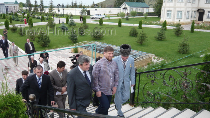 russia782: Chechnya, Russia - Grozny - Chechen president Ramzan Kadyrov and his entourage - photo by A.Bley - (c) Travel-Images.com - Stock Photography agency - Image Bank