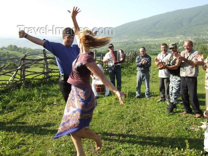 russia799: Chechnya, Russia - man and woman dancing traditional Chechen dance in meadow - photo by A.Bley - (c) Travel-Images.com - Stock Photography agency - Image Bank