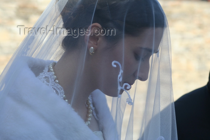 russia805: Chechnya, Russia - portrait of Chechen bride with veil - photo by A.Bley - (c) Travel-Images.com - Stock Photography agency - Image Bank