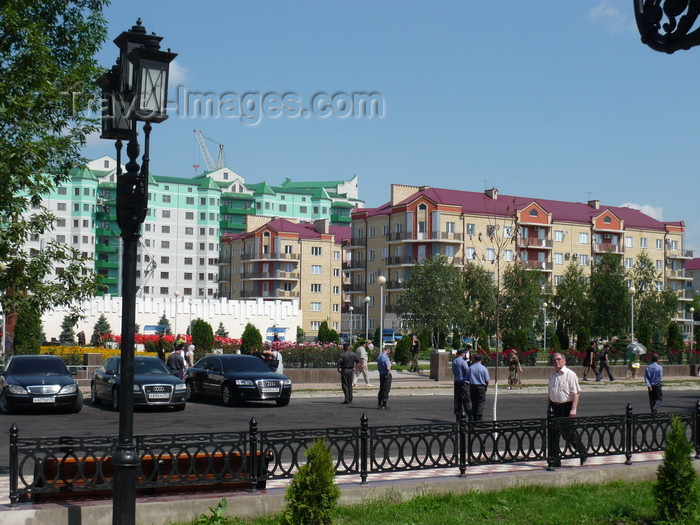 russia806: Chechnya, Russia - Grozny - renewed part of the city - official Audis and Mercedes - photo by A.Bley - (c) Travel-Images.com - Stock Photography agency - Image Bank