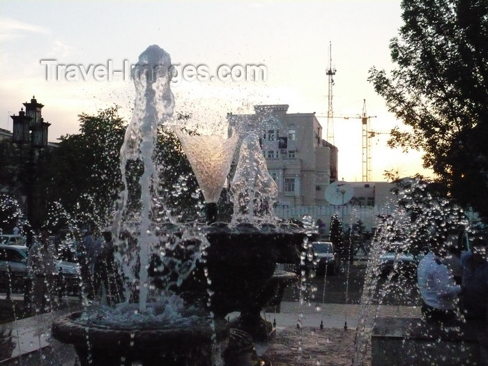russia809: Chechnya, Russia - Grozny - water fountain - photo by A.Bley - (c) Travel-Images.com - Stock Photography agency - Image Bank