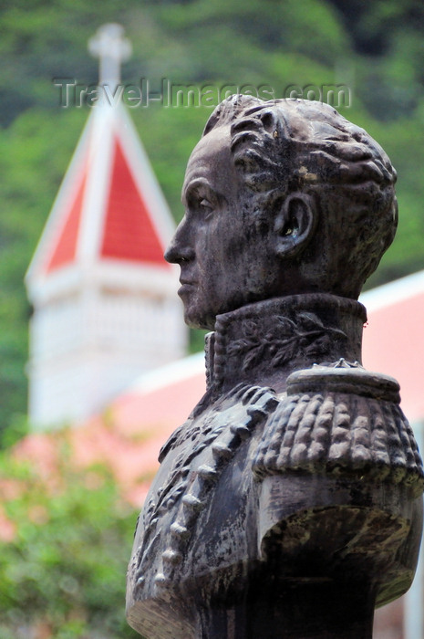 saba30: Windwardside, Saba: bust of South American colonial rebel Simon Bolivar, a gift of Venezuela - photo by M.Torres - (c) Travel-Images.com - Stock Photography agency - Image Bank