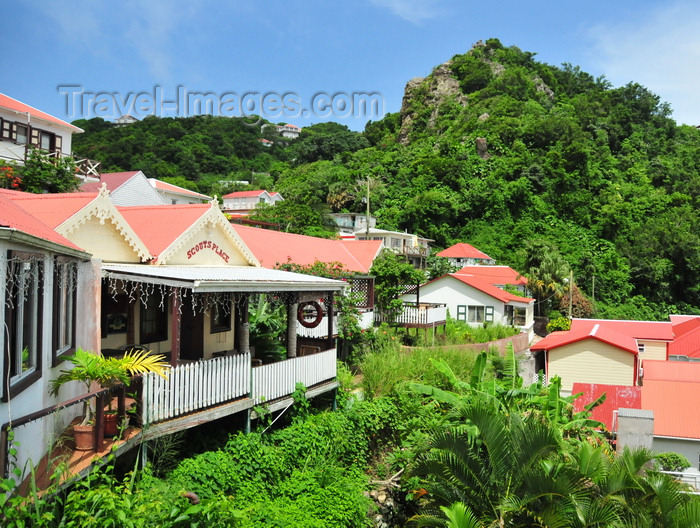 saba33: Windwardside, Saba: Scout's Place - a hotel, Bar, restaurant, dive center, and boutique all wrapped into one - photo by M.Torres - (c) Travel-Images.com - Stock Photography agency - Image Bank