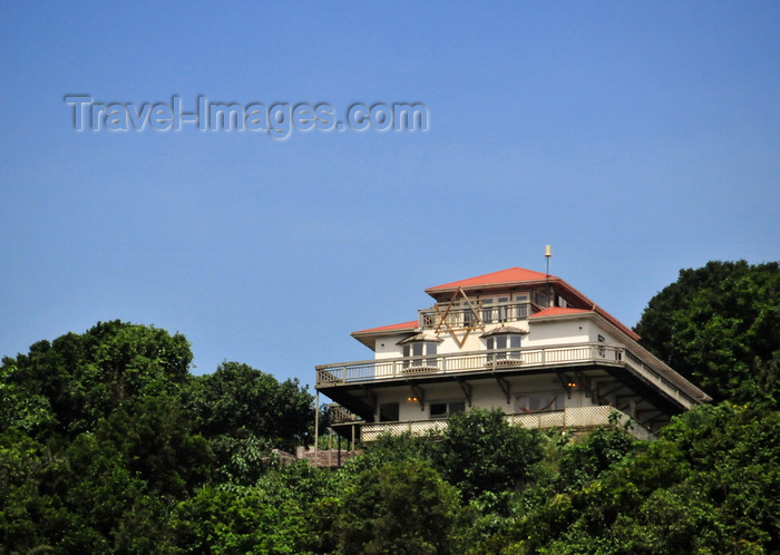 saba35: Windwardside, Saba: top of the hill house with the Star of David - photo by M.Torres - (c) Travel-Images.com - Stock Photography agency - Image Bank