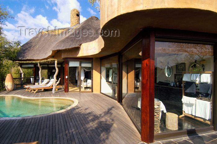 safrica179: South Africa - South Africa Singita Game Reserve suite patio - photo by B.Cain - (c) Travel-Images.com - Stock Photography agency - Image Bank