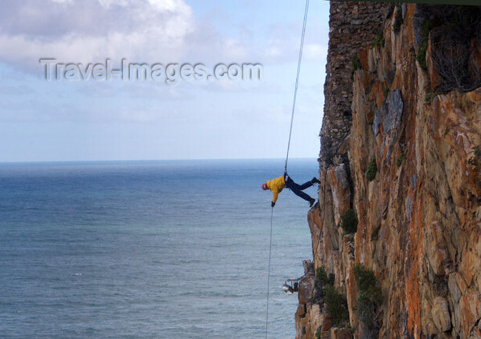 safrica186: South Africa - Thy Kingdom Come abseil rap jump - extreme sports, Knysna - photo by B.Cain - (c) Travel-Images.com - Stock Photography agency - Image Bank