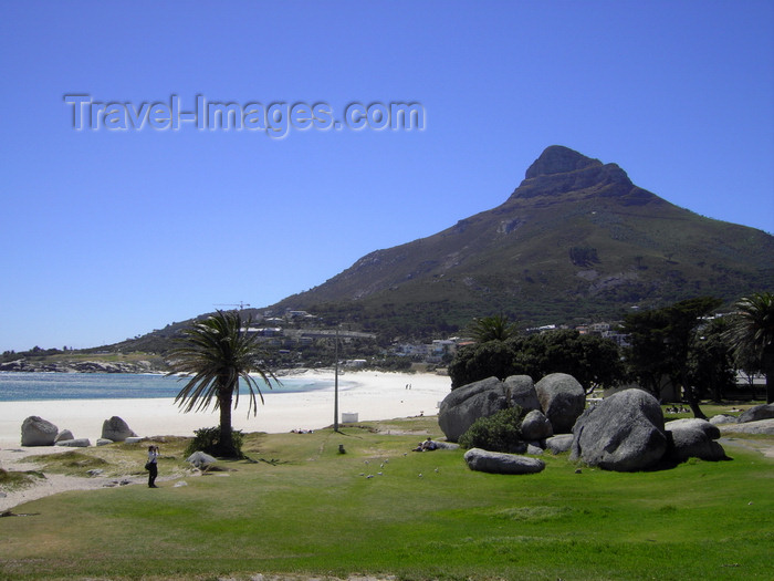 safrica205: Cape Town, Western Cape, South Africa: Lion's Head mountain and Clifton beach - photo by D.Steppuhn - (c) Travel-Images.com - Stock Photography agency - Image Bank