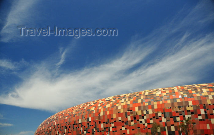 safrica215: Soweto, Johannesburg, Gauteng, South Africa: Soccer City - hosted the first mass rally of Nelson Mandela after his release from prison in 1990 - situated in Diepkloof near Nasrec - photo by M.Torres - (c) Travel-Images.com - Stock Photography agency - Image Bank