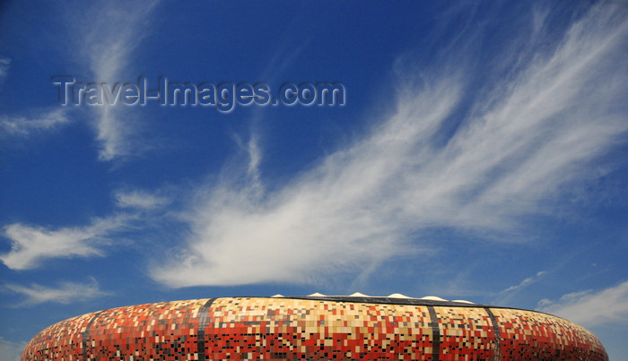 safrica217: Soweto, Johannesburg, Gauteng, South Africa: Soccer City Stadium - venue for the finals of the 2010 FIFA World Cup and the 1996 CAF African Cup of Nations- photo by M.Torres - (c) Travel-Images.com - Stock Photography agency - Image Bank