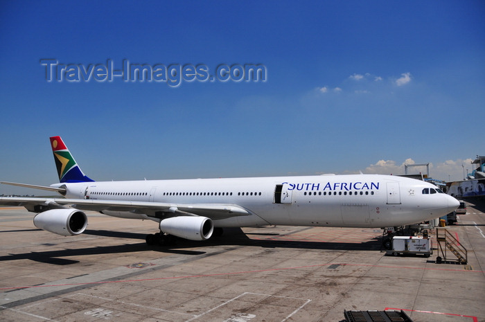 safrica239: Johannesburg, Gauteng, South Africa: South African Airways Airbus A340-313X - cn 651 - OR Tambo International - Johannesburg International Airport / Jan Smuts -  Kempton Park, Ekurhuleni - photo by M.Torres - (c) Travel-Images.com - Stock Photography agency - Image Bank