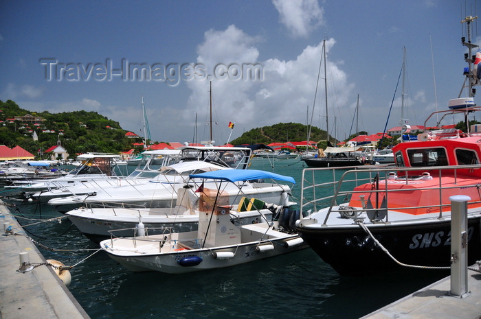 saint-barthelemy48: Gustavia, St. Barts / Saint-Barthélemy: rescue boat and small yachts - harbour scene - photo by M.Torres - (c) Travel-Images.com - Stock Photography agency - Image Bank
