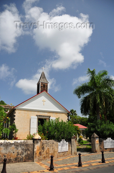 saint-barthelemy53: Gustavia, St. Barts / Saint-Barthélemy: St Bartholomew's Anglican Episcopal Church - built in 1855 - Rue Samuel Fahlberg - Eglise Anglicane - photo by M.Torres - (c) Travel-Images.com - Stock Photography agency - Image Bank