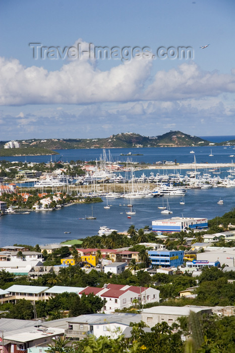 saint-martin10: Sint-Maarten - Simpson bay and Simpson bay lagoon: from the hills - West Indies - photo by D.Smith - (c) Travel-Images.com - Stock Photography agency - Image Bank