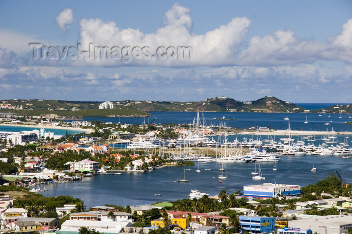 saint-martin11: Sint-Maarten / St Martin - Simpson bay: from the hills - photo by D.Smith - (c) Travel-Images.com - Stock Photography agency - Image Bank