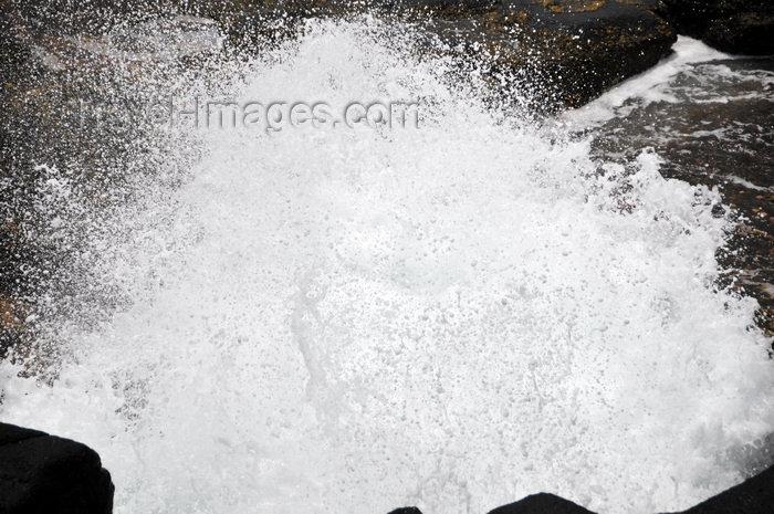 sao-tome124: Boca do Inferno, Cantagalo district, São Tomé and Prícipe / STP: Hell's Mouth blowhole - water explosion / furna de sopro - explosão de água - photo by M.Torres - (c) Travel-Images.com - Stock Photography agency - Image Bank