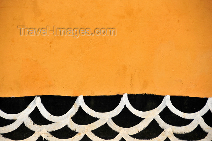 sao-tome172: Santo Amaro, Lobata district, São Tomé and Príncipe / STP: church - painted waves / igreja - ondas - photo by M.Torres - (c) Travel-Images.com - Stock Photography agency - Image Bank
