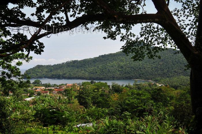 sao-tome80: São João plantation /  roça São João, Caué district, São Tomé and Prícipe / STP: view from the terrace towards Mussandá promontory / Ponta Mussandá vista do terraço da casa grande - photo by M.Torres - (c) Travel-Images.com - Stock Photography agency - Image Bank