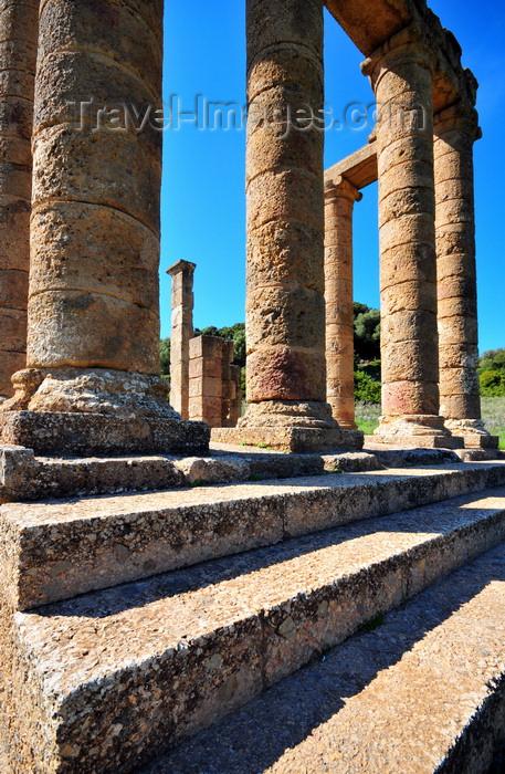 sardinia115: Sant'Angelo, Fluminimaggiore, Sardinia / Sardegna / Sardigna: Punic-Roman temple of Antas - stairs lead to the tetrastyle pronaos - photo by M.Torres - (c) Travel-Images.com - Stock Photography agency - Image Bank