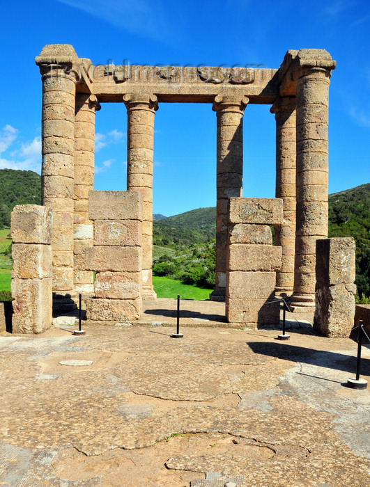 sardinia122: Sant'Angelo, Fluminimaggiore, Sardinia / Sardegna / Sardigna: Punic-Roman temple of Antas - view from the interior - sacred cell built over Carthaginian remains - photo by M.Torres - (c) Travel-Images.com - Stock Photography agency - Image Bank