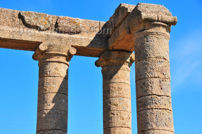 sardinia123: Sant'Angelo, Fluminimaggiore, Sardinia / Sardegna / Sardigna: Punic-Roman temple of Antas - Ionic columns of the pronaos - the entablature survives, but the pediment is gone - photo by M.Torres - (c) Travel-Images.com - Stock Photography agency - Image Bank