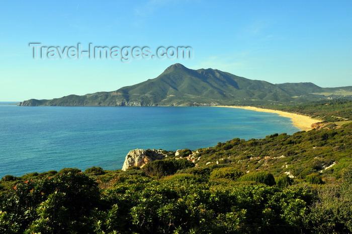 sardinia130: Portixeddu, Fluminimaggiore, Carbonia-Iglesias province, Sardinia / Sardegna / Sardigna: the beach and Cape Pecora - photo by M.Torres - (c) Travel-Images.com - Stock Photography agency - Image Bank