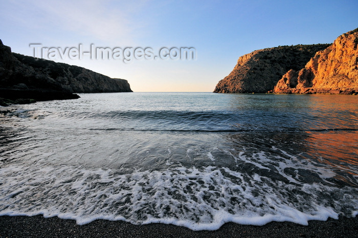 sardinia136: Cala Domestica, Buggerru, Sardinia / Sardegna / Sardigna: beach view - encased in a magnificent fjord between the limestone cliffs - photo by M.Torres - (c) Travel-Images.com - Stock Photography agency - Image Bank