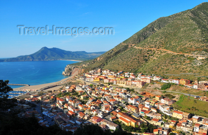 sardinia138: Buggerru, Sardinia / Sardegna / Sardigna: the town is built along a gorge ending in the small harbour - photo by M.Torres - (c) Travel-Images.com - Stock Photography agency - Image Bank