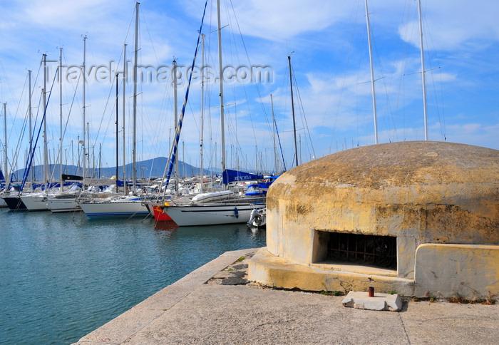 sardinia147: Alghero / L'Alguer, Sassari province, Sardinia / Sardegna / Sardigna: bunker and yachts in the marina - porto turistico - photo by M.Torres - (c) Travel-Images.com - Stock Photography agency - Image Bank