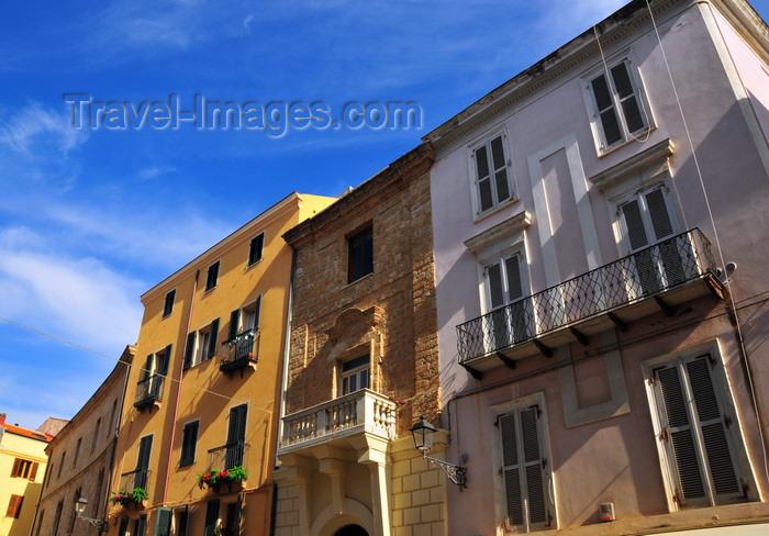 sardinia156: Alghero / L'Alguer, Sassari province, Sardinia / Sardegna / Sardigna: building on the main square, Plaça de Pou Vell / Piazza Civica - photo by M.Torres - (c) Travel-Images.com - Stock Photography agency - Image Bank