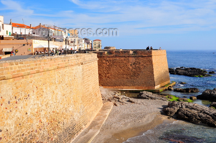 sardinia175: Alghero / L'Alguer, Sassari province, Sardinia / Sardegna / Sardigna: Antonio Pigafetta bastion - photo by M.Torres - (c) Travel-Images.com - Stock Photography agency - Image Bank