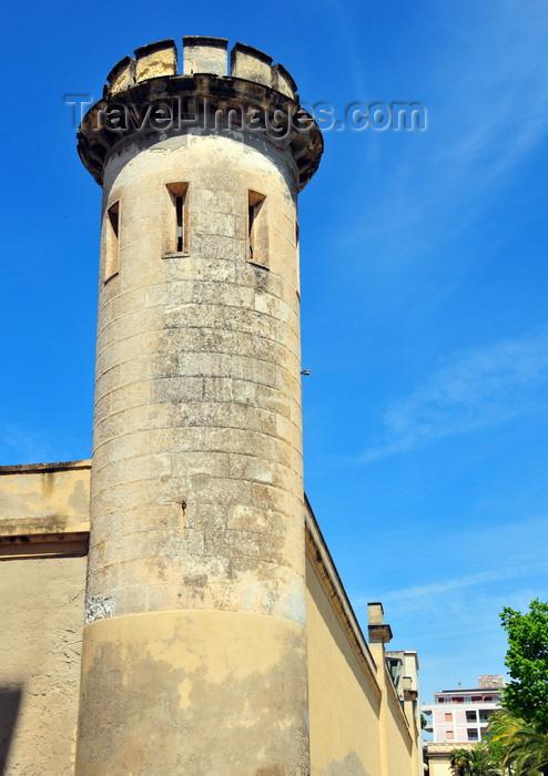 sardinia194: Sassari / Tàthari , Sassari province, Sardinia / Sardegna / Sardigna: tower in the walls of St Sebastian jail - Carcere di San Sebastiano - photo by M.Torres - (c) Travel-Images.com - Stock Photography agency - Image Bank